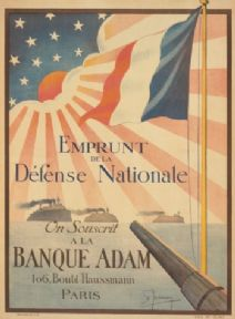 French Ww1 Poster Emprunt De La Defense Nationale On